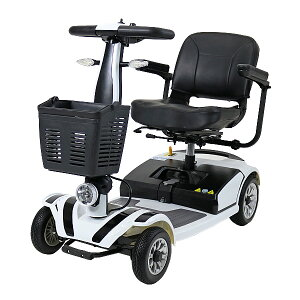 送料無料 新品 電動シニアカート 白 シルバーカー 車椅子 TAISコード取得済 運転免許不要 折りたたみ 軽量 コンパクト 電動カート 四輪車 4輪車 移動 高齢者 充電 シート回転 電動車いす 電動