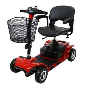 送料無料 新品 電動シニアカート 赤 シルバーカー 車椅子 PSE適合 TAISコード取得済 電動ミニカー 折りたたみ 折り畳み 軽量 コンパクト 電動カート 電動 シニア カート 充電 バッテリー 介護