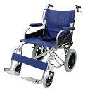 送料無料 車椅子 アルミ合金製 青 約10kg 背折れ 軽量 折り畳み 介助用 介助ブレーキ付き 携帯バッグ付き ノーパンク…