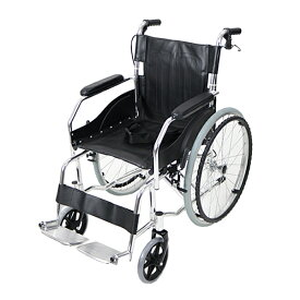 送料無料 車椅子 アルミ合金製 黒 約11kg TAISコード取得済 軽量 折り畳み 自走介助兼用 介助ブレーキ付き 携帯バッグ付き ノーパンクタイヤ 自走用車椅子 自走式車椅子 折りたたみ コンパクト 介助用 自走式 自走 介助 車椅子 車イス 車いす ブラック wheelchairb68bk