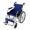 送料無料 新品 車椅子 アルミ合金製 青 約11kg 軽量 折り畳み 自走介助兼用 介助ブレーキ付き 携帯バッグ付き ノーパ…