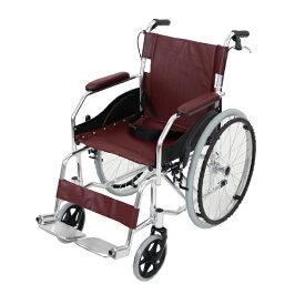 送料無料 車椅子 アルミ合金製 茶 約11kg TAISコード取得済 軽量 折り畳み 自走介助兼用 介助ブレーキ付き 携帯バッグ付き ノーパンクタイヤ 自走用車椅子 自走式車椅子 折りたたみ コンパクト 介助用 自走式 自走 介助 車椅子 車イス 車いす ブラウン wheelchairb68br