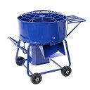 送料無料 モルタルミキサー 青 混合量120L ドラム容量140L 物置き台付 電動 ミニミキサー ミニモルタルミキサー 電動…