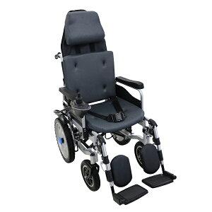 送料無料 フルリクライニング電動車椅子 グレー TAISコード取得済 折りたたみ ノーパンクタイヤ 自走介助兼用 リクライニング電動車椅子 電動 手動 充電 電動ユニット 電動アシスト 電動カ