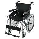 送料無料 車椅子 アルミ合金製 黒 約12kg 背折れ 軽量 折り畳み 自走介助兼用 介助ブレーキ付き ノーパンクタイヤ 自…