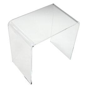送料無料 アクリルテーブル ネストテーブル Lサイズ 単品 コの字 サイドテーブル クリア 無色透明 透明感 入れ子 インテリア 家具 アクリル樹脂 アクリルネストテーブル アクリル テーブル ローテーブル 軽量 アクリルスタンド 展示台 ディスプレイ actable005cll