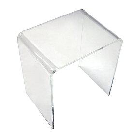 送料無料 アクリルテーブル ネストテーブル Mサイズ 単品 コの字 サイドテーブル クリア 無色透明 透明感 入れ子 インテリア 家具 アクリル樹脂 アクリルネストテーブル アクリル テーブル ローテーブル 軽量 アクリルスタンド 展示台 ディスプレイ actable005clm