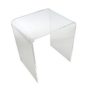 送料無料 アクリルテーブル ネストテーブル Sサイズ 単品 コの字 サイドテーブル クリア 無色透明 透明感 入れ子 インテリア 家具 アクリル樹脂 アクリルネストテーブル アクリル テーブル ローテーブル 軽量 アクリルスタンド 展示台 ディスプレイ actable005cls