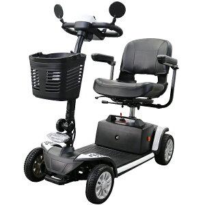 送料無料 電動シニアカート 白 電動カート シルバーカー サイドミラー 車椅子 TAISコード取得済 運転免許不要 電動車いす 電動車椅子 介護 福祉 バックミラー 鏡 充電 折りたたみ 軽量 四輪車