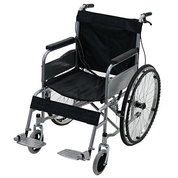 送料無料 車椅子 黒 折り畳み 自走介助兼用 介助ブレーキ付き ノーパンクタイヤ 自走用車椅子 自走式車椅子 折りたたみ コンパクト 自走用 介助用 自走式 自走 介助 車椅子 車イス 車いす ブラック wheelchairs09bka