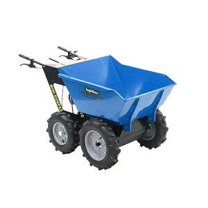 送料無料 ダンプカート エンジン式 Honda GXV160内蔵 4ストロークエンジン 最大積載重量約250kg 積載容量約200L 5.5馬力 4輪 ダンパー エンジン 台車 運搬車 青 運搬機 運搬用 土 砂 土砂 歩行型運搬