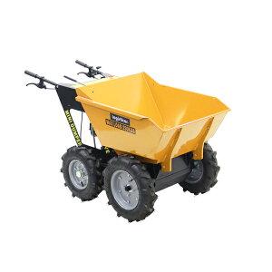 送料無料 ダンプカート エンジン式 Honda GXV160内蔵 4ストロークエンジン 最大積載重量約250kg 積載容量約200L 5.5馬力 4輪 ダンパー エンジン 台車 運搬車 黄 運搬機 運搬用 土 砂 土砂 歩行型運搬