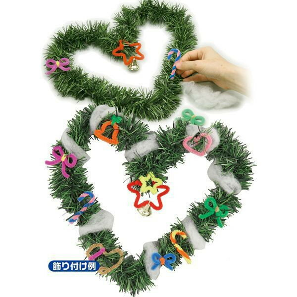 クリスマスリース リース 手作りキット クリスマスリース キット 30個販売 クリスマスグッズのお得なまとめ割販売 ※30個以上でのご注文お願いします