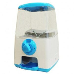 ガチャマシーン GACHA CUBE(ガチャキューブ) <コインフリー仕様> ブルー 『ハンドルを回すだけでカプセルが落ちてくる』卓上設置タイプのガチャガチャマシン本体です ※カプセルは
