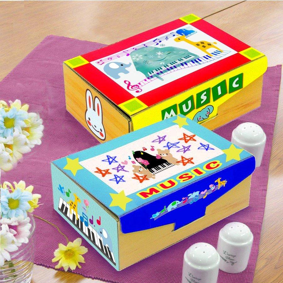 プレゼント オルゴール箱 製作キット 10個販売 オルゴール箱 段ボール製 フォトフレーム付き クリスタル