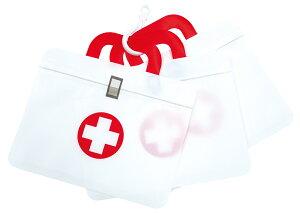 救急箱シッパーポーチ3P 100枚セット販売 種類別のお薬や小物を別々に入れて持ち手部分をフックでつなげて持ち運べます