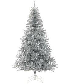 クリスマスツリー シルバーノーブルカラー 240cm シルバーノーブルパインワイドツリー(ヒンジ方式)