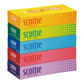 スコッティ ティッシュ130W5個パック (KS130W5P) 24個セット販売