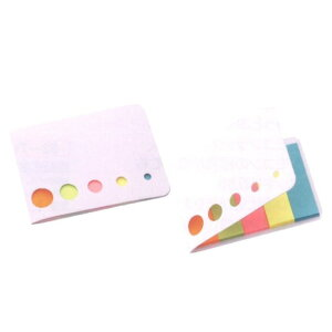 カバー付きふせんメモ 500個セット販売 ポケットサイズのカバーにカラフルな5色付箋がセットされています 【名入れ可能商品 別途費用が掛かります】