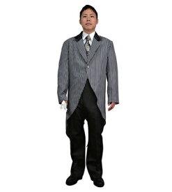 燕尾服 コスチューム ストライプテールコート 宴会コスプレ マジック・手品 タキシード衣装