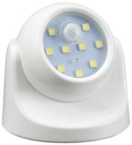 人感センサーライト 人を感知して自動点灯 人感センサー・360度角度調節可能・LED9灯式 100個セット販売