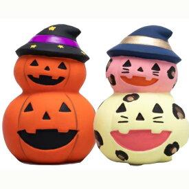 お絵かき かぼちゃ(2段)陶器 100個セット販売 貯金箱 陶器 置物 ワークショップ・絵付け体験用にも ハロウィンパンプキン