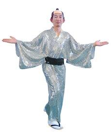 着物 キラキラ着流し シルバー 衣装 スパーク着流し マツケンサンバ 宴会コスプレ衣装