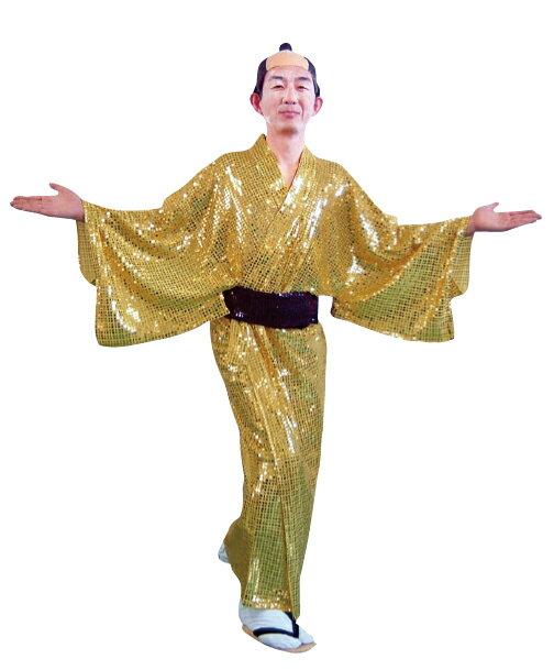 着物 キラキラ着流し ゴールド衣装 スパーク着流し マツケンサンバ コスチューム 宴会衣装