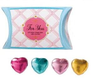 バレンタイン チョコギフト 景品 プチハートチョコ4個 400個セット販売 ハート型チョコ入りお菓子 販促品