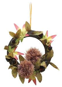 秋の装飾 ディスプレイ 栗リース 秋の果物栗のリースが新発売