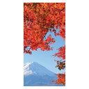 秋の装飾 ディスプレイ タペストリー 富士紅葉(防炎) H180×W90cm 色々なシーンで使える 上下パイプ・上部ひ…