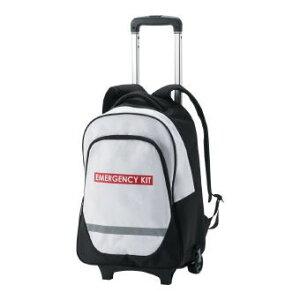 キャリー付防災リュック (7-600) キャリーカートとリュックの取り外しが可能。給水タンクなど重い荷物をカートに乗せて運ぶことが出来ます