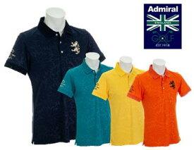 Admiral GOLF ADMA951アドミラル ゴルフ メンズフラワーエンボス 襟メッシュ ポロシャツ