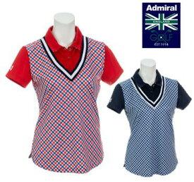 Admiral GOLF ADLA923アドミラル ゴルフ レディースバイアストリコ チェックシャツ