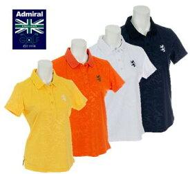 Admiral GOLF ADLA945アドミラル ゴルフ レディースエンボスフラワー 襟メッシュ ポロシャツ