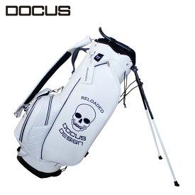 ドゥーカス DCC752 スタンド キャディバッグ リローデッド スタンド バッグ メンズ ゴルフ 9型 ホワイト DOCUS Reloaded Stand Bag かっこいい オシャレ クール 大人 コアーズ楽天市場店