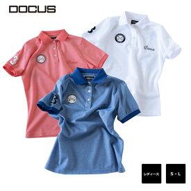 (クリアランス)エンブレム ポロ ドゥーカス レディース 2020 春夏 ゴルフ ウェア 大人 シンプル おしゃれ 半袖 シャツ DOCUS Emblem Polo dcl20s006 コアーズ楽天市場店