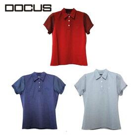 ドゥーカス ポロ 2021 春夏 かわいい おしゃれ 女子 ゴルフ ウェア 映え DOCUS DCL21S004 Sheer Sleeve Polo コアーズ楽天市場