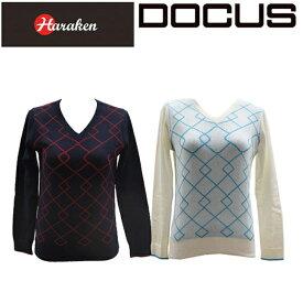 (クリアランス)ドゥーカス DOCUS レディースゴルフウェア Vネック ニットシャツ セーター DCL16S004 あす楽