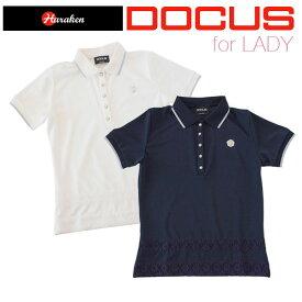 (クリアランス)ドゥーカス DOCUS レディース ゴルフ ウェア レース ポロ シャツ DCL17S001 あす楽