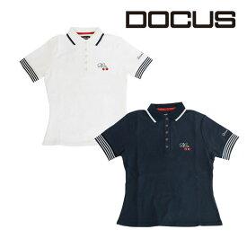 ドゥーカス DOCUS レディースゴルフウェア DCスムースポロシャツ シャツ DCL18S002 あす楽