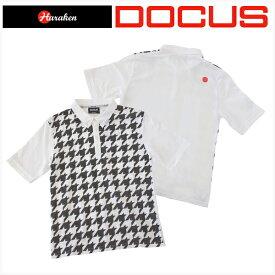 aa8a0182b756e ドゥーカス DOCUS メンズ ゴルフ ウェア 千鳥 ポロ シャツ DCM17S002 あす楽
