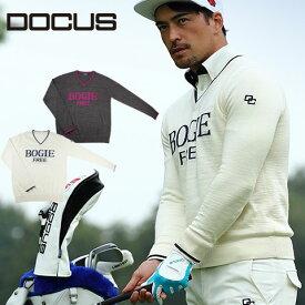 ドゥーカス DOCUS Vネック セーター BOGIE FREE メンズ レディース ゴルフ ウェア DCM18A001 あす楽