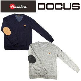 ドゥーカス DOCUS Vネック 防風 セーター WIND メンズ レディース ゴルフ ウェア DCM18A003 あす楽