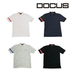 (クリアランス)ドゥーカス DOCUS メンズゴルフウェア ラインポロシャツ ポロ シャツ DCM18S002 あす楽