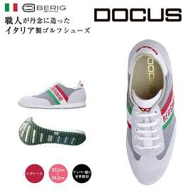 ドゥーカス DOCUS BERIGNANO イタリア製 レディース ゴルフ スパイクレス シューズ ブラック あす楽