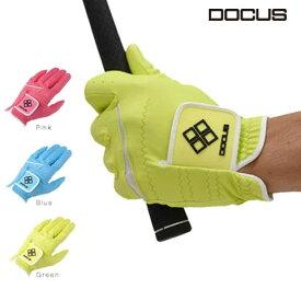 ドゥーカス DOCUS ゴルフ グローブ Glove ソーダブルー,パッシモピンク,メローイエロー DCGL-COLOR 702 片手用 18〜26cm あす楽