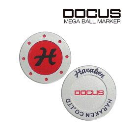 ドゥーカス DOCUS メンズゴルフ MEGA MARKER メガマーカー レッド/ブラック あす楽 (◎)
