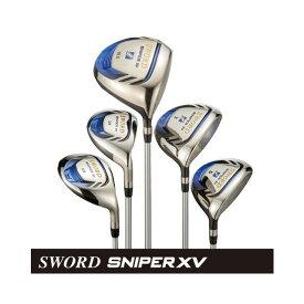 カタナゴルフ KATANA GOLF メンズゴルフクラブ SWORD SNIPER XV スウォード スナイパー ドライバー+フェアウェイウッド(#3、#5)+ユーティリティ(#4、#5) 5本セット