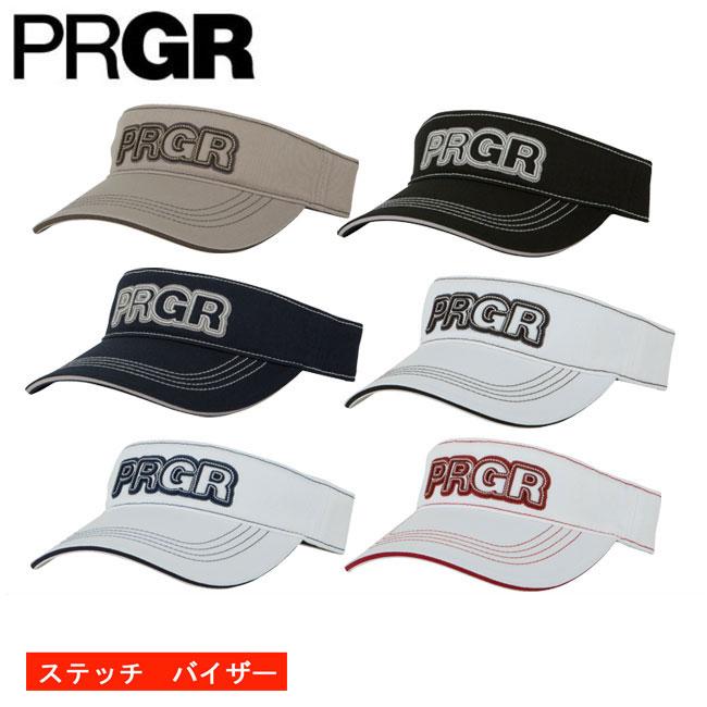 プロギア PRGR メンズ ゴルフ バイザー ステッチ 契約プロ着用予定 PV-102 2018 あす楽